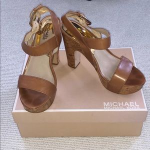 Michael Kors cork heels